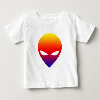 Camiseta Para Bebê Alienígena do arco-íris
