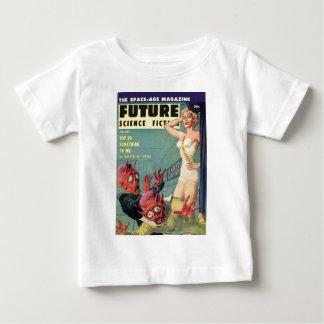Camiseta Para Bebê Aliens e rainha da beleza