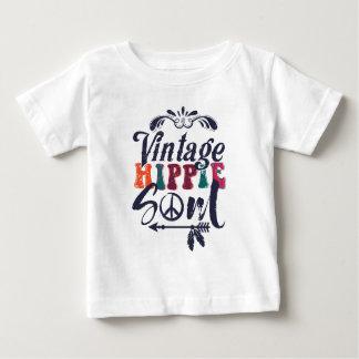 Camiseta Para Bebê Alma do Hippie do vintage