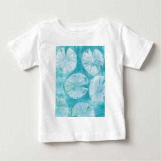 Camiseta Para Bebê Almofadas de lírio branco
