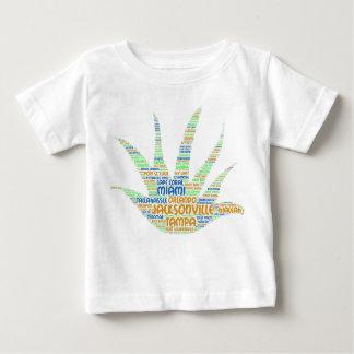 Camiseta Para Bebê Alove Vera ilustrada com as cidades de Florida EUA