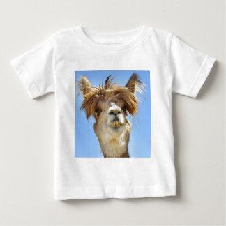 Camiseta Para Bebê Alpaca louca do cabelo