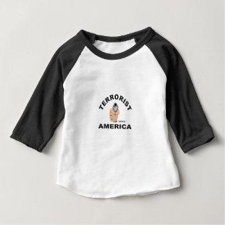 Camiseta Para Bebê alvos dos EUA para matar o terrorista