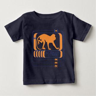 Camiseta Para Bebê Amante do macaco