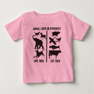 Camiseta Para Bebê Amante dos animais ou hipócrita?
