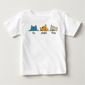 Camiseta Para Bebê amante engraçado do gato do gatinho do