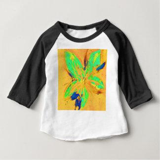 Camiseta Para Bebê Amarelo ácido da lavagem de Santa Fé