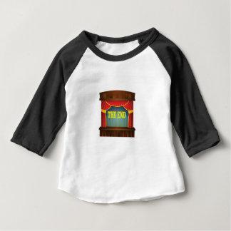 Camiseta Para Bebê amarelo da cortina a extremidade