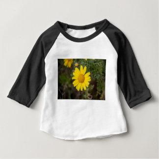 Camiseta Para Bebê Amarelo do cu da flor da margarida