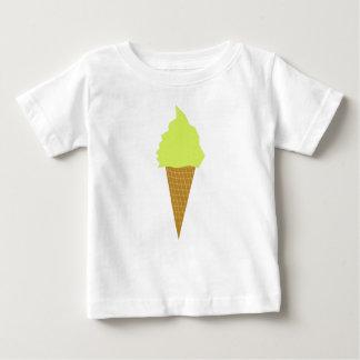 Camiseta Para Bebê amarelo do estilo do divertimento do sorvete