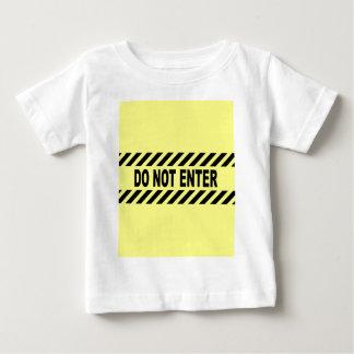 Camiseta Para Bebê Amarelo e preto não incorpore o sinal