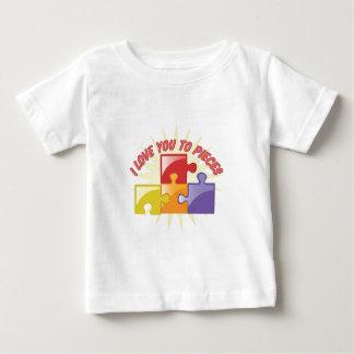 Camiseta Para Bebê Ame-o às partes