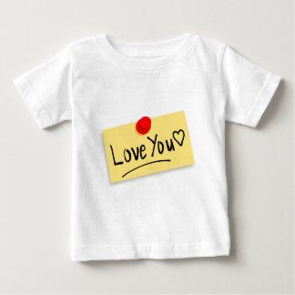 Camiseta Para Bebê Ame-o nota
