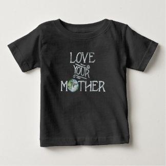 Camiseta Para Bebê Ame seu dia de Mãe Terra