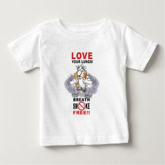 Camiseta Para Bebê Ame seus pulmões - pare de fumar