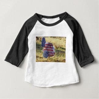 Camiseta Para Bebê Amercan Turquia selvagem