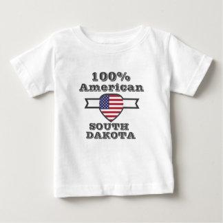 Camiseta Para Bebê Americano de 100%, South Dakota