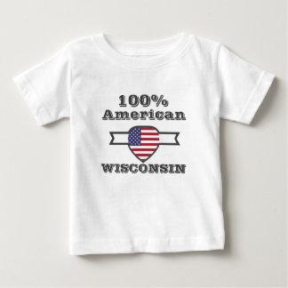 Camiseta Para Bebê Americano de 100%, Wisconsin