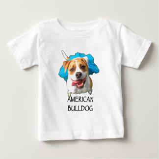 Camiseta Para Bebê americano do buldogue