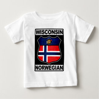 Camiseta Para Bebê Americano norueguês de Wisconsin