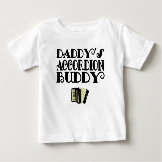 Camiseta Para Bebê Amigo do acordeão do pai