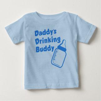 Camiseta Para Bebê Amigo do bebendo do pai