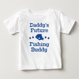 Camiseta Para Bebê Amigo futuro da pesca do pai