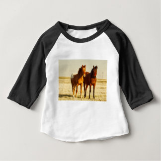 Camiseta Para Bebê Amigos do cavalo