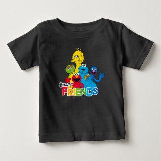Camiseta Para Bebê Amigos do sésamo do Sesame Street |