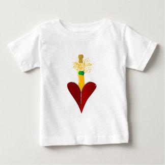 Camiseta Para Bebê Amor Champagne