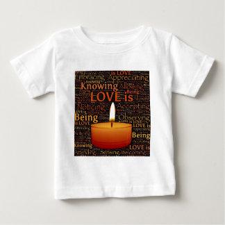 Camiseta Para Bebê Amor, citações da vela