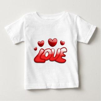 Camiseta Para Bebê Amor com corações