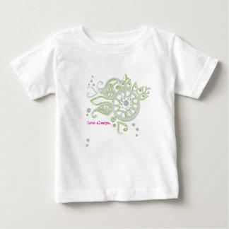 Camiseta Para Bebê Amor da flor do Henna que tira sempre