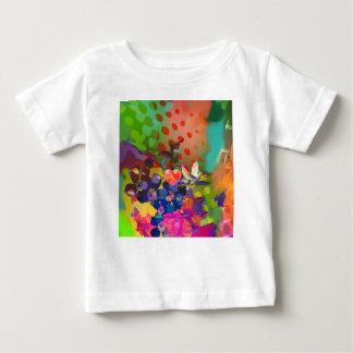 Camiseta Para Bebê Amor da natureza com fundo multicolorido