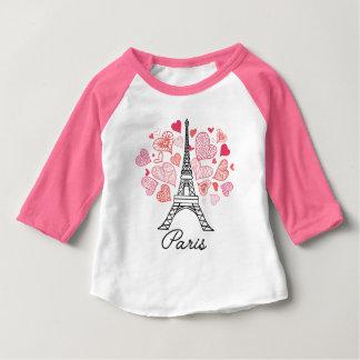 Camiseta Para Bebê Amor de Paris, France