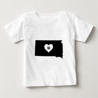 Camiseta Para Bebê Amor de South Dakota