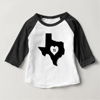 Camiseta Para Bebê Amor de Texas