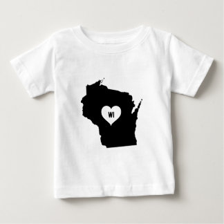 Camiseta Para Bebê Amor de Wisconsin