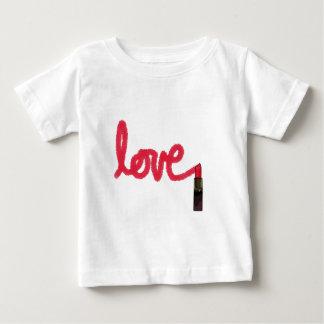 Camiseta Para Bebê Amor do batom