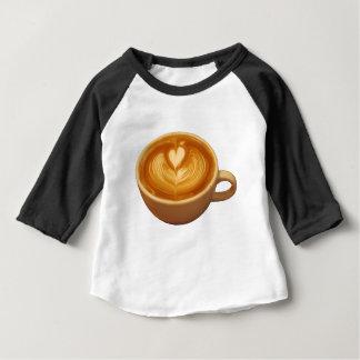 Camiseta Para Bebê Amor do café
