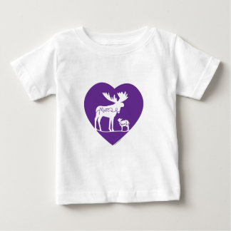 Camiseta Para Bebê Amor do cordeiro dos alces