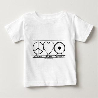 Camiseta Para Bebê Amor e cilindros da paz