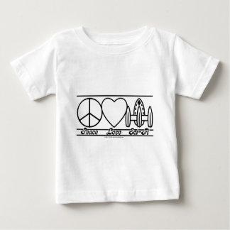 Camiseta Para Bebê Amor e SciFi da paz