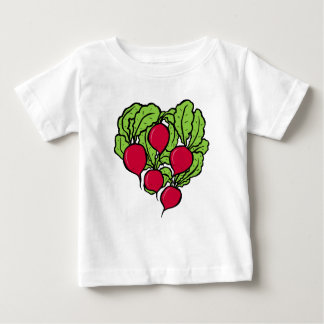 Camiseta Para Bebê Amor para rabanetes