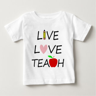Camiseta Para Bebê amor vivo teach2
