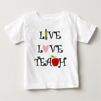 Camiseta Para Bebê amor vivo teach3