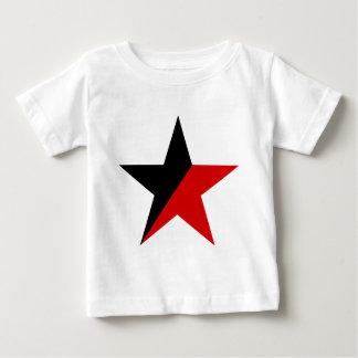 Camiseta Para Bebê Anarquismo preto e vermelho do