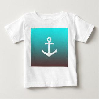 Camiseta Para Bebê Âncora branca do vermelho | do aqua do inclinação