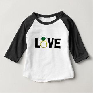 Camiseta Para Bebê Anel do amor