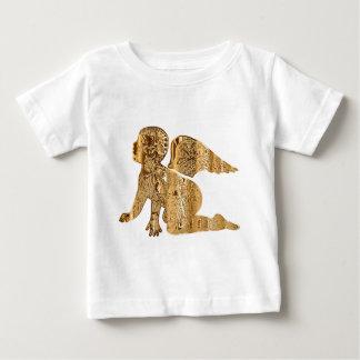Camiseta Para Bebê Angélico elegante brilhante do anjo dourado do